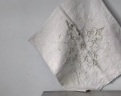 Vintage Linen Pillow Cover, Embroidered Textile, Home Decor