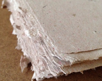 Kitchen Sink Paper #1, paper sheets, handmade paper, natural paper, recycled paper, decorative paper, homemade paper, envelopes