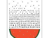 Watermelon Art print, Pattern, Harvest, Geometry, Vegetable, Fruit Print, Drawings, Illustration, Decorative art, Kitchen Art, Botanical Art