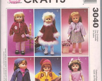 18 Inch Doll Clothing Patterns, McCalls 3040, Simplicity 8535 , Casual, Dressy, Party Clothes