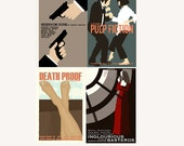 Movie posters Tarantino Collection set of four inches prints save 10%