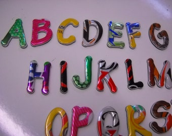 Magnetic Letters Made From Recycled Soda Can