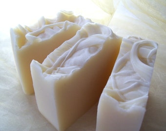 Organic Soap, Unscented soap, Fragrance Free Natural Soap with Shea Butter, Cocoa Butter and Tussah Silk, Etsy soap
