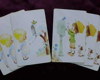 Vintage Boy and Girl Love Letter Combo Set Playing Cards