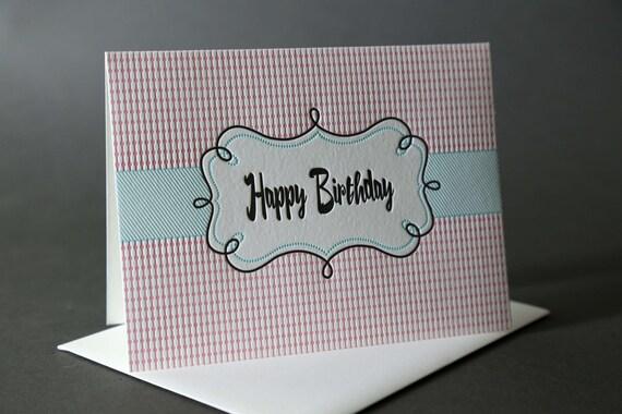 """Retro Frame """"Happy Birthday"""""""