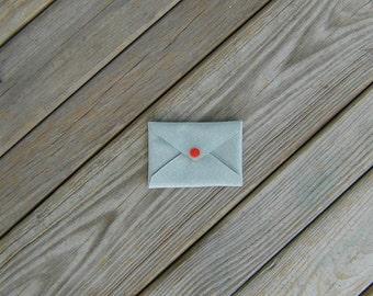 Silver 1000 Denier Cordura Card Holder with Orange Snap
