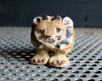 Vintage Tremar UK Baby Lion Ceramic Sculpture Figurine, Mid Century Sixties