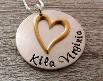 Personalized Necklace - Sweet - Mothers Necklace - hand stamped jewelry
