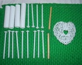 Vintage bag of cake decorating items Wilton White Heart and other misc