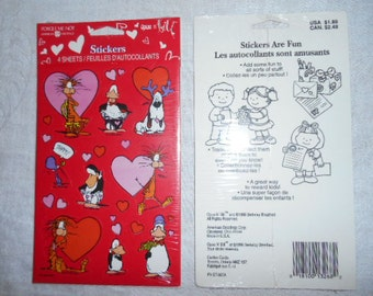 Opus and Bill Sealed American Greetings Package of Valentines Day Stickers 4 Sheets