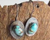Old Stock Turquoise Earrings - Turquoise Jewelry - Turquoise Earrings