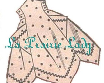 Repro Vintage Apron 50's One Yard Fabric PDF Pattern No 3 Available Size M-L-XL