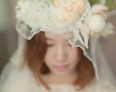 Bridal silk floral crown ,silk flower halo