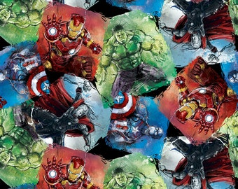 Marvel Sketch Ultron Cotton Fabric By The Yard