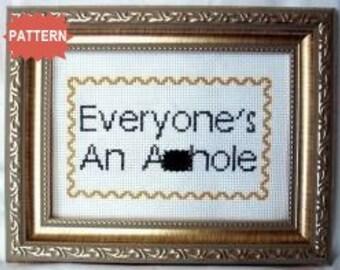 PDF/JPEG Everyone's An A--hole (Pattern)