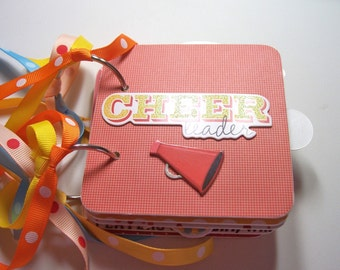 Cheerleader Mini Album, Mini Album, Scrapbook, Memory Book, Coaster Album, Chipboard Album, Brag Book, Photo Album, Cheerleader, Premade