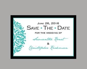 Save the Dates - Vintage Antique Victorian Edwardian Damask Wedding Save the Date Post Cards Postcards