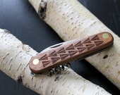 Laser etched pocket knife | The VAQUERO, customizable for wedding party, groomsman gift