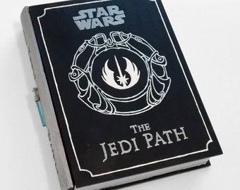 Hollow book, secret safe box - The Jedi Path - wooden hideaway book box.  Hidden drawer.