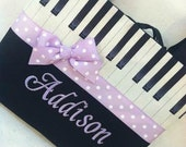 Piano Music Tote, Monogrammed