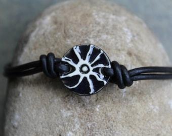 Black Sunburst Bracelet