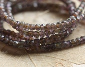 GRAPE BITS .. 50 Picasso Czech Glass Rondelle Beads 2x3mm (4279-st)