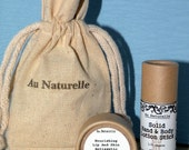 Gift Set  -   Solid Hand And Body Lotion Stick With Lip And Skin Antiseptic Balm  -  Great Gift Idea