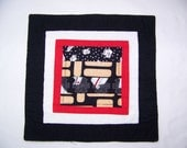 Healing Arts Quilted Coaster or Mug Rug 3