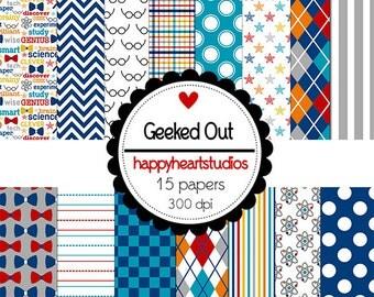 Digital Scrapbook GeekedOut -INSTANT DOWNLOAD