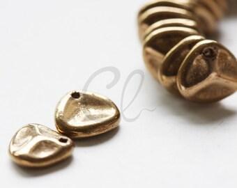 25pcs Czech Glass Rose Petal Beads - Bronze - 8x7mm (8790215)