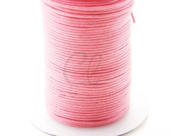 25 Meters of Round Wax Cotton Cord - Neon Pink 1.5mm (603)