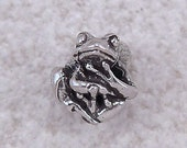 NEW Green Girl Studios Tiny Tree Frog Pewter Bead