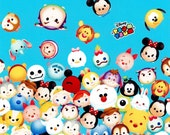 Disney Character  Disney tsum tsum fabric Print 50 cm by 106   cm or 19.6 by 42 inches Half  meter