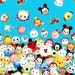 ON SALE Disney Character  Disney tsum tsum fabric Print 50 cm by 106   cm or 19.6 by 42 inches Half  meter