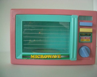 Vintage Child's Toy Red Eagle Microwave Oven