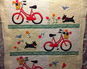 PATTERN Stowaways Quilt SCOTTIE DOG and Bikes
