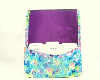 Coupon Organizer Holder Floral Watercolor Spring Purple Lining