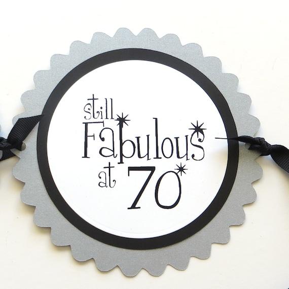 Fab At 70: 70th Birthday Banner Still Fabulous At 70 Black Silver
