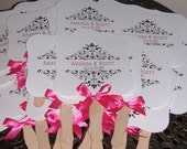 Wedding Fans with Monogram, Fans for Wedding, Wedding Favor, Vintage