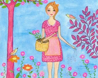 Original Painting, Original Art, Nursery Art , Nursery Decor, Art for Nursery, Girls Decor, Art for Girls, Children Decor, Original Artwork