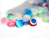 Assorted Acrylic and Glass Striped Beads - Liquidation Sale