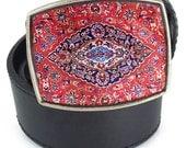 The Dude Big Lebowski rug resin belt buckle