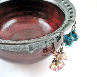 Large Earring holder, Earring bowl, Jewelry Bowl, earring organizer, gift to her - Made to order