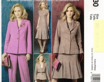 McCall's UNCUT Palmer & Pletsch Classic Fit Pattern M4930 - Misses Lined Jacket, Dress and Pants - 16-22