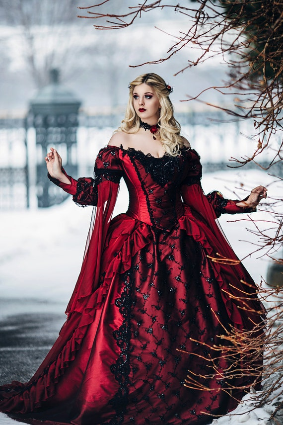 Items similar to gothic sleeping beauty princess medieval fantasy gown