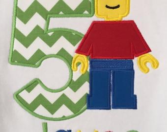 Lego Man Birthday Shirt