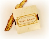 Timber and Spice Soap, Cold Process Soap, Handmade Soap, Phthalate Free, Palm Oil Free, Wood, Spice, Patchouli, Cardamom, Men's Soap