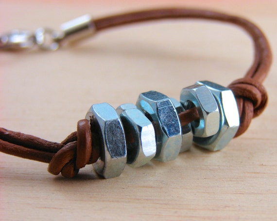 Leather Cuff Bracelet Unisex Hardware Jewelry Industrial and eco friendly