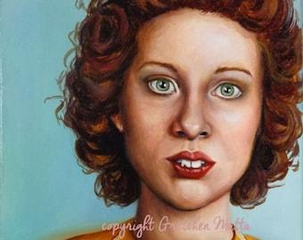 Convict Carla - Original Portrait Oil Painting