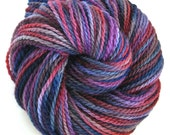 Hand Dyed Yarn Worsted Wool Yarn - Twinkle